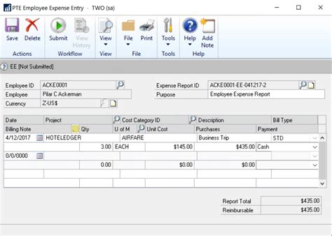 Microsoft Dynamics Gp microsoft dynamics gp 2016 addition of edit list reports to pte entry windows microsoft