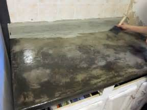 concrete resurfacing staining countertop refinishing major diy s in the kitchen part 1 countertop