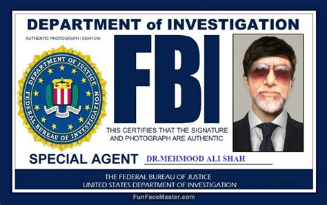 fbi id card template psd id card use fbi template put your in photo