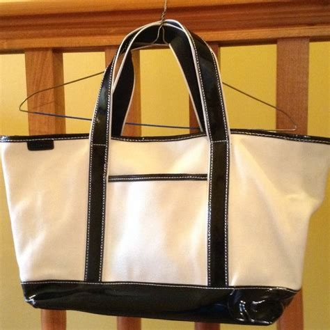 Trovata Canvas And Patent Tote by 70 Lands End Handbags Lands End Canvas And Patent