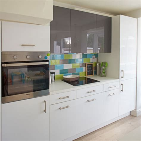 John Lewis Kitchen Furniture white and grey high gloss kitchen decorating ideal home