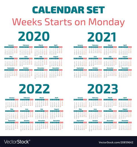 simple   years calendar royalty  vector image