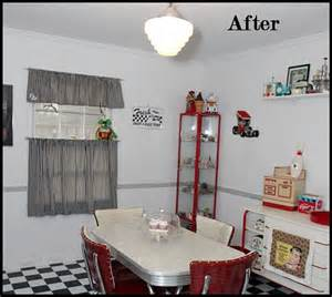 diner style kitchen table a retro dining room kitchen makeover with 50s style