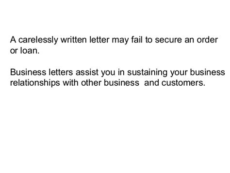 Purpose Of Business Letter Ppt ppt on business letter