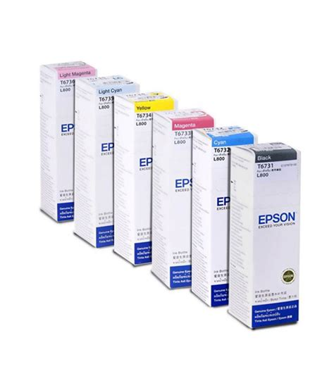 Toner Epson L800 epson ink bottles all colours set of 6 for epson l800 buy epson ink bottles all colours set of