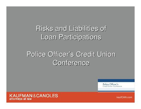 Section 35 Regulatory Requirements For Credit Unions by Loan Participations Andy Keeney