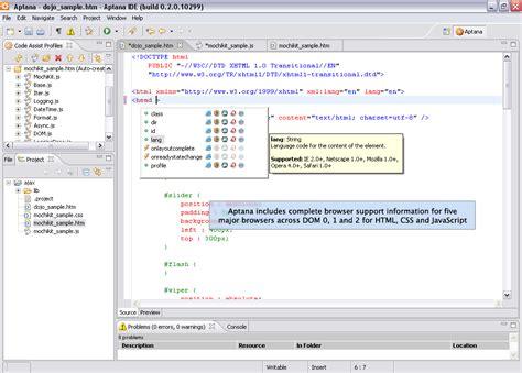 dreamweaver tutorial javascript dreamweaverの代わりになるフリーソフト aptana gigazine