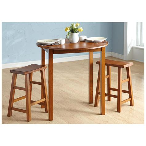 3 pc kitchen table sets 3 pc pub table set chestnut finish 236580 kitchen dining at sportsman s guide
