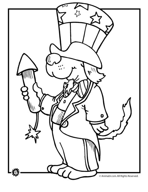 printable coloring pages july 4th july 4th dog coloring coloring kids