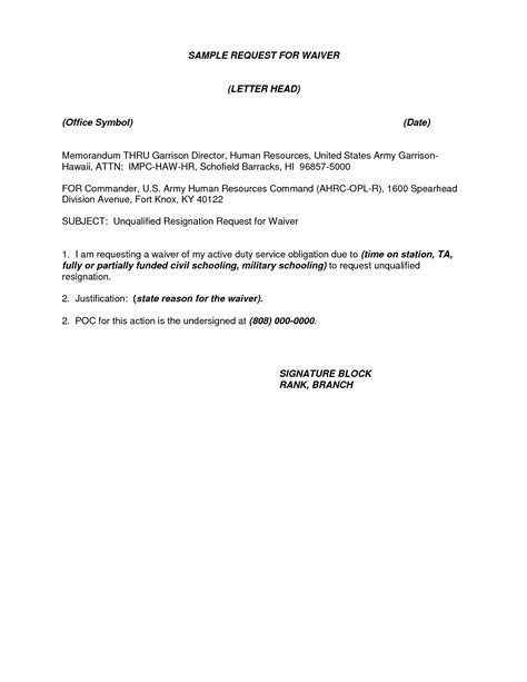 Request Letter Format For Gr Waiver Sle Letter Asking For Waiver Contoh 36