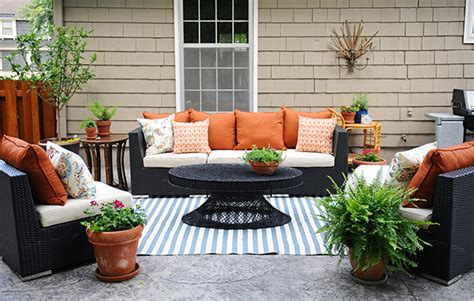 outdoor home decor ideas patio decorating ideas a modern chic patio refresh the home depot