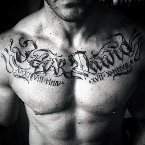 name tattoos on chest for men collection of 25 numeral lettering on chest