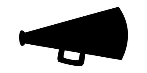 megaphone clipart cheer clip clip and megaphone black white image 4