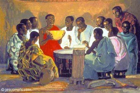 painting mafa jesus mafa last supper liturgy
