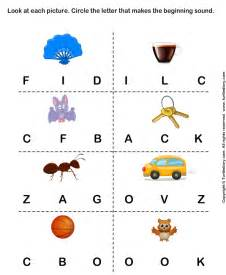 identify the beginning sound of words worksheet turtle diary