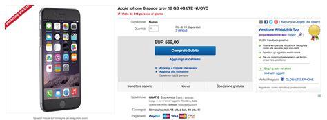 iphone 6 e 6 plus su ebay nuovi e in garanzia scontati a
