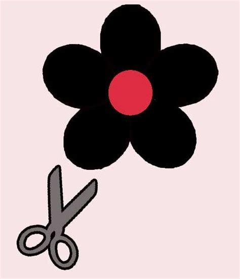 flores de 5 petalos para imprimir moldes de flores de 5 petalos imagui