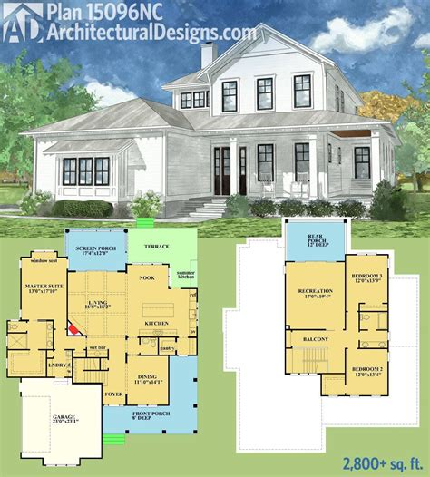 Spacious House Plans by Plan 15096nc Country Home With Spacious Front And Rear