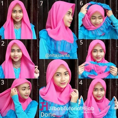 tutorial hijab simple segi empat 36 best hijab tutorial tutorial hijab modern images on