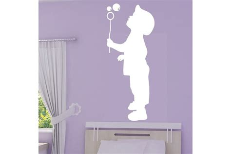 Stickers Enfant 852 by Image Enfant Qui Souffle Sticker Silhouette Enfant Qui