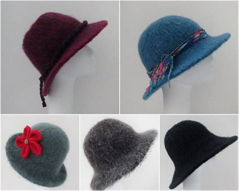 pattern felted hat four of my felted hat patterns 205 flat brim hat using