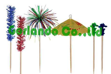 china decorative wood picks pd002 china party
