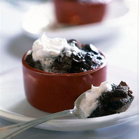 Chocolate Chunk Bread Puddings 100 Lightened Chocolate Light Pudding Recipe