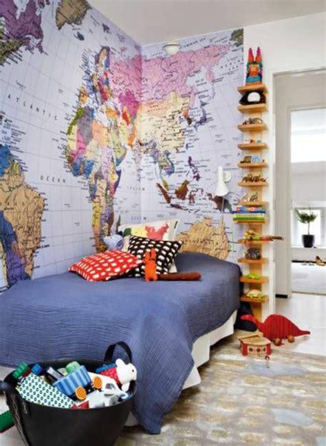 world map room ausgefallene tapeten vertreiben die langweile aus ihrem zimmer