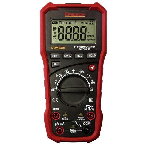 Usb Multimeter Dawson Digital Multimeter With Usb Interface Ddm230b The Home Depot