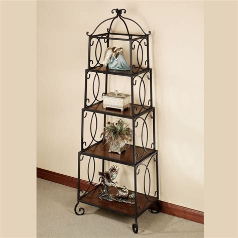 Transitional Furniture Styles - walker 4 tier display accent shelf