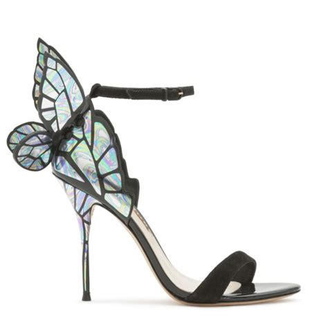 butterfly shoes for chiara black iridescent webster