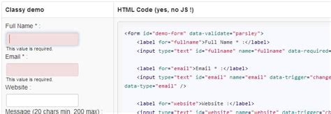 parsley pattern validation 15 form validation jquery plugins and libraries