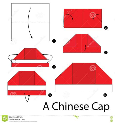 How To Make Origami Cap - step by step how to make origami a