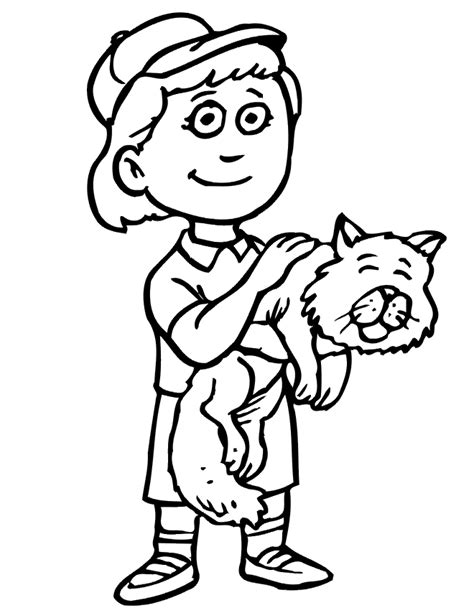 little boy coloring page coloring home