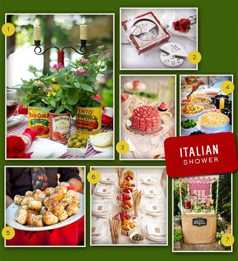 an italian themed wedding shower my wedding favors wedding trends bridal my