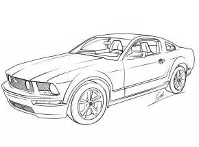 free printable mustang coloring pages for