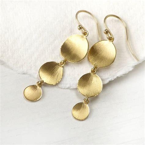 Flower Petals Earrings Black No 02a35cr flower petal drop earrings 18ct gold by lilia nash