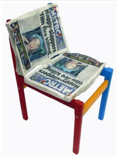 furniture made out of recycled materials upcycled chairs insteading