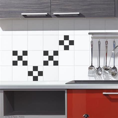 sticker carrelage cuisine stickers pour carrelage mural damier de plage sticker