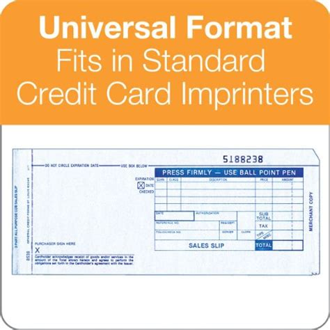 Credit Card Sales Receipt Template by Tops Credit Card Sales Slips 3 Part Carbonless White 3