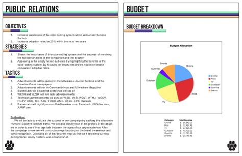 relations budget template wisconsin humane society 2011 caign