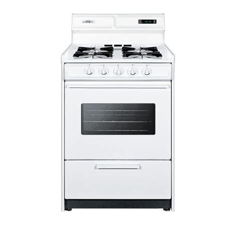 summit appliance 24 in 2 9 cu ft gas range in white