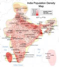 population density map of list of states in india by past population wiki everipedia