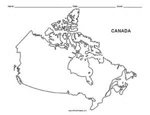 free blank map of canada canada outline map free printable allfreeprintable