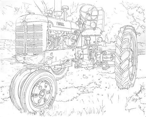coloring pages farmall tractors farmall tractor coloring pages printable farmall best