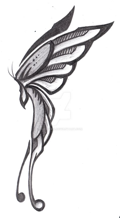 side view butterfly tattoo designs tribal butterfly side view by ashes360 on deviantart