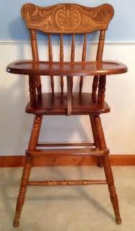 baby fester stuhl vintage carved wooden baby high chair solid wood toddler