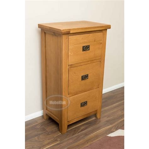 Rustic File Cabinet Vancoouver Rustic Oak 3 Drawer Filing Cabinet Best Price Guarantee
