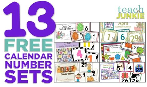 printable calendar classroom 7 best images of january calendar numbers printable for