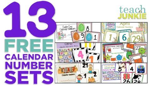 Free Printable Calendar Numbers